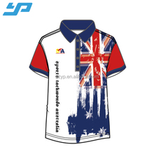 Custom dri fit shirts wholesale , round neck sportwear plain printed sublimation t shirt