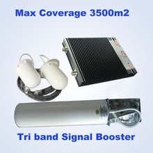 newest product gsm 900&1800&3g 2100 mhz 27DBM tri band repeater booster