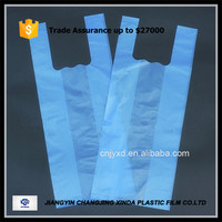 hdpe plastic t-shirt bag on roll