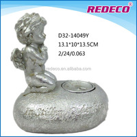 Resin decorative christmas angel statue candle holder