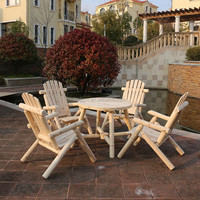 outdoor wooden table and chair furniture