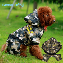 Wild Cold-resistant Camouflage Large Pet Dog Winter Clothing with detachable pants