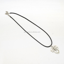 "Size Princess 17"" Vintage Waxed Cord Iron Findings Dragon Zinc Alloy Pendant <strong>Necklaces</strong> Wholesale"