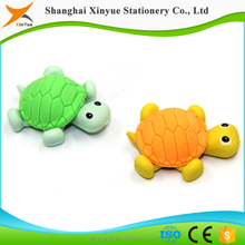China Supplies 3d animal cute tortoise erasers Christmas gifts for kids