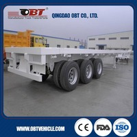 Hot Sale Best Price load container 40ft flatbed container trailer for sale