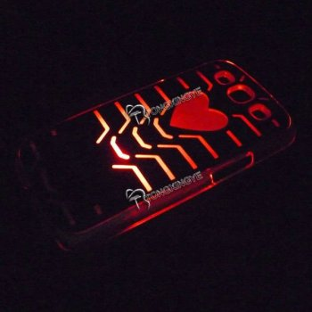 2013,glow in the dark phone cases LED case for galaxy s2,newest style.