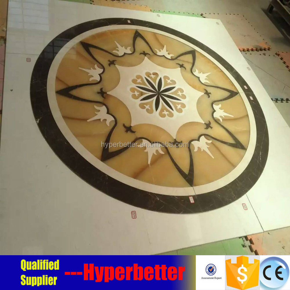 Marble mixed onyx waterjet medallion