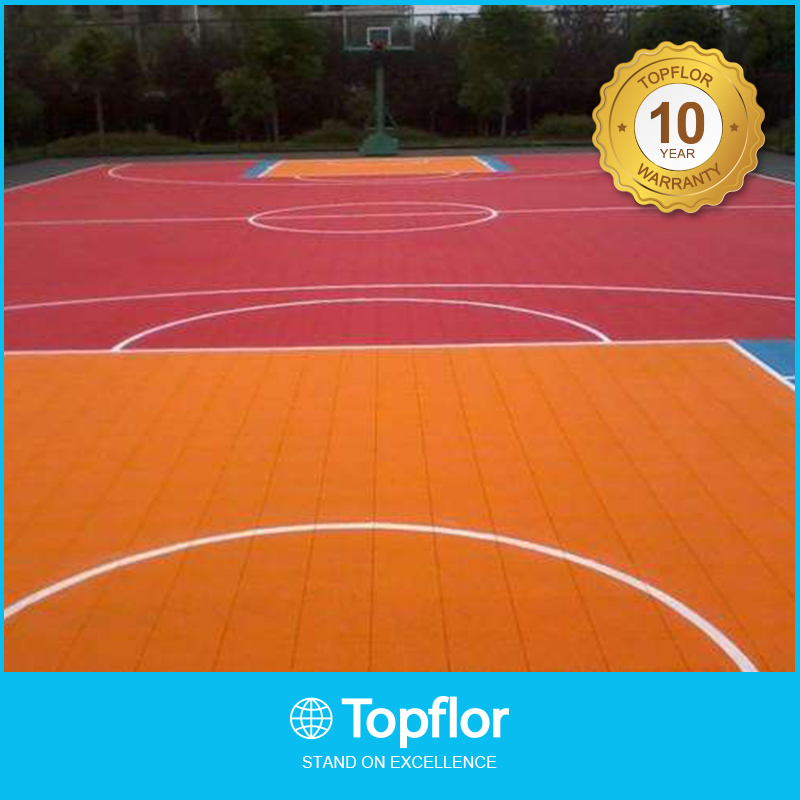 Althetic Basketball Sports Court Plastic Interlocking Tiles