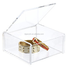 Wholesale perspex plexiglass clear custom made acrylic jewelry box