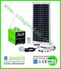 20W 30w 40w 50w 60w High quality competitive price solar home system/30w/12v home solar system for home lighting