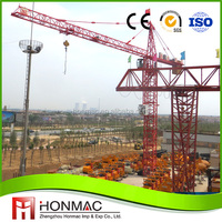 ISO and BV approved qtz80 tower crane ,elba tower crane