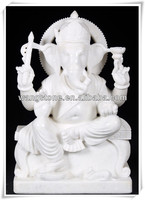 White marble figure monkey statue for decor