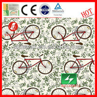100% Cotton Antistatic Bicycle Print Fabric