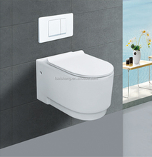 Foshan bathroom ceramic p trap back to wall toilet wall hung toilet for concealed cistern