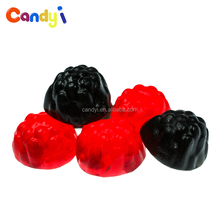 Custom service flavor fruit shaped jelly raspberry gummy candy