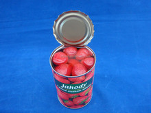 Brand food factory, canned strawberry in light syrup