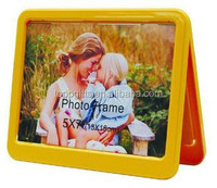 Promotinal plastic two sides photo frame with glass
