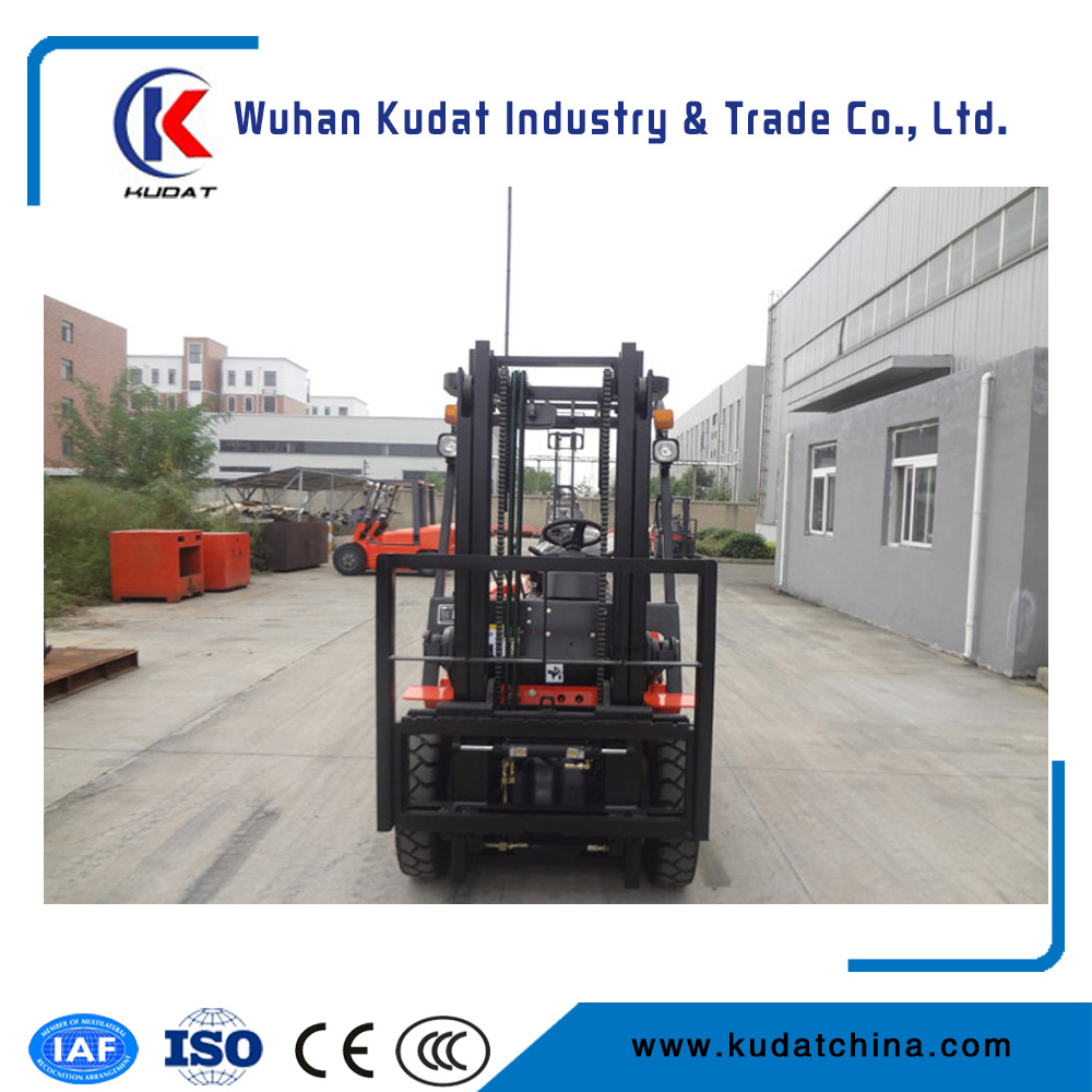 China New Forklift 2.5T with Cotton Bale Clamp Triple Mast for Sale