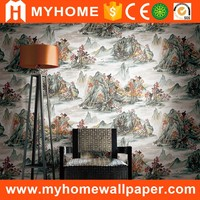 Interior Flower Rose Decorative Wall Paper Embossed Wallpaper