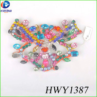 The colorful fabric flower shoe flower for lady clogs charms