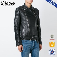 Classic motorcycle winter motorcycle black leather jacket for boy