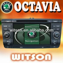 WITSON car dvd gps 2 din for Octavia II with iPhone ready