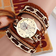 2016 New Style Ladies Watches Vogue Rope Analog Quartz Women Men Casual Relogio Hours Wrist Watch