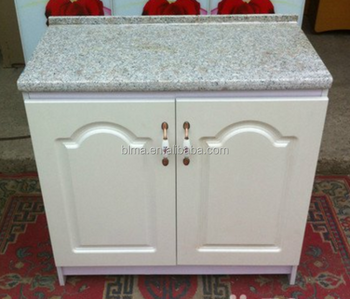 High quality PVC door hotel bathroom Vanity cabinet with marble countertops