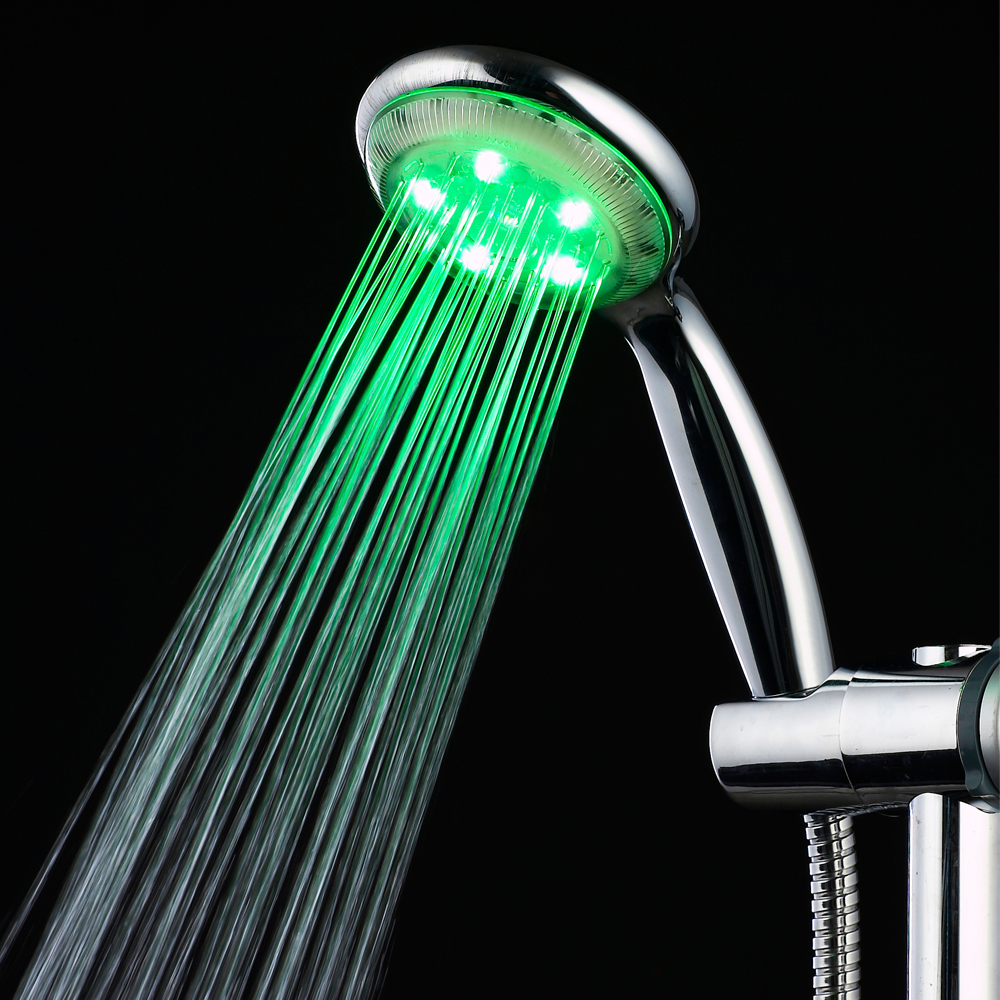 Newest LED Handheld Shower Head LED shower head High Quality Shower Head with Temperature Sensor