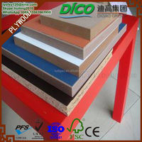 High Quality 3.7mm Colors Melamine Laminated MDF Board
