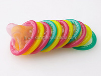 different colour sex condom, flavored black, green, red, yellow, blue, pink condom