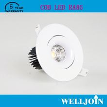 Professional Adjustable 7W LED COB ceiling light 5w surface mounted gimbal led down lights