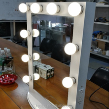 Hollywood makeup mirror with 10 Bulb lights Aluminum Vanity Makeup lighted Mirror