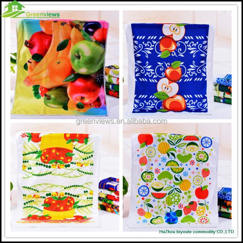 Microfiber kitchen towel embroidery tea towel size christmas kitchen towel
