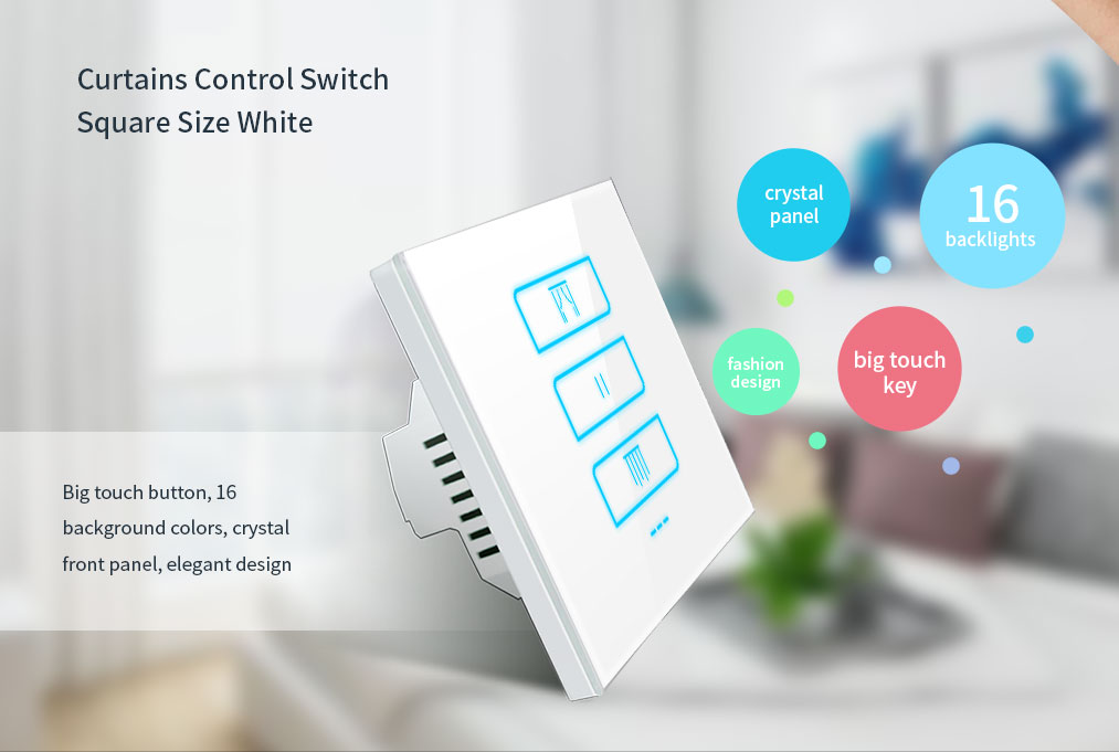 Wall touch wifi shutter switch Lanbon 2019 new zigbee curtain controller assocaite with google amazon