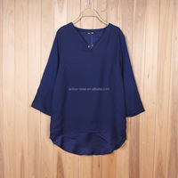 wholesale clearance clothing ladies three quarter sleeves blouse designs