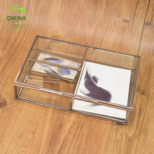 "best seller Glass Jewelry Display Organizer Box Holder Necklace Earring Ring Storage Case "" square storage storage key drop box"