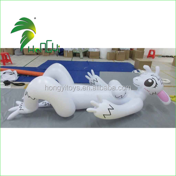 Attractive Inflatable Lying Sexy Rabbit Cartoon Girl With Sex Breast For Sale