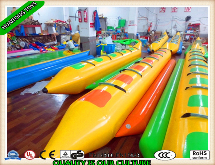 2016 hot sale durable inflatable banana boat and water park sport toys for sale
