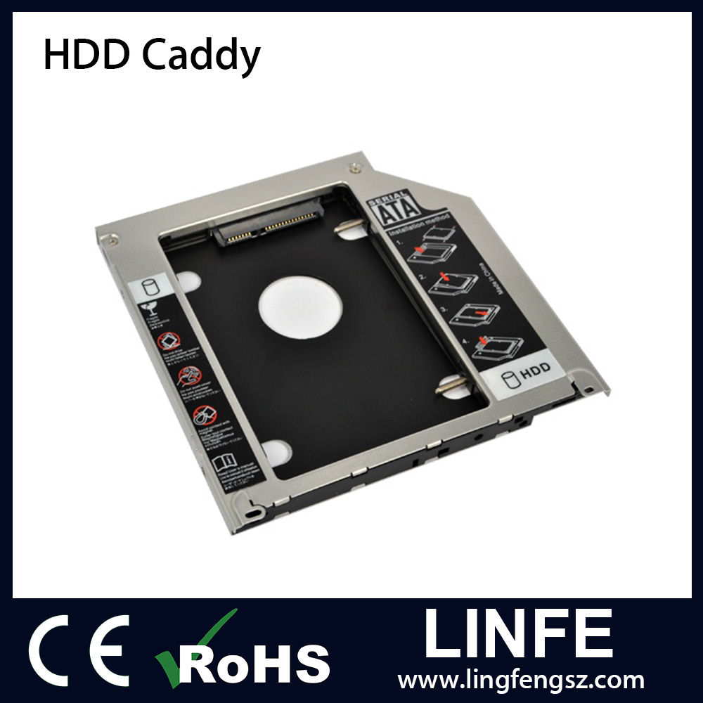 Free Sample! 12.7mm SATA for Universal Laptop Series Hard Driver Caddy 2nd HDD Caddy