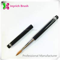 Two sided best quality nail art brush famous design black metal nail brush