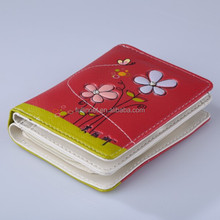 New Model Lady Wallet/Fashion Wholesale Red Flowers Printing Woman Wallet/Festival gift