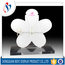 Manufacture OEM / ODM Flower Shaped Cute Simply Fashionable Acrylic Earring Display Holder