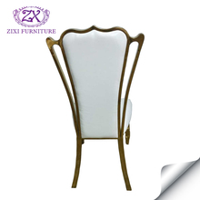 Hot sale stainless steel white leather wedding chairs for sale