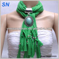 Hot sale trendy fashion spring scarf with beads