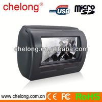7'' Motorized slide shield Headrest roof mounted car dvd player