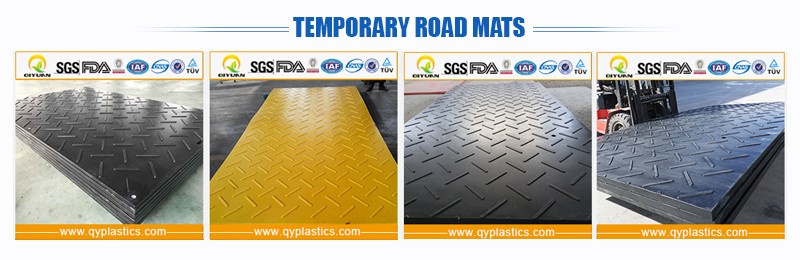 Black Durable Protection Hollow Core Construction Road Mat