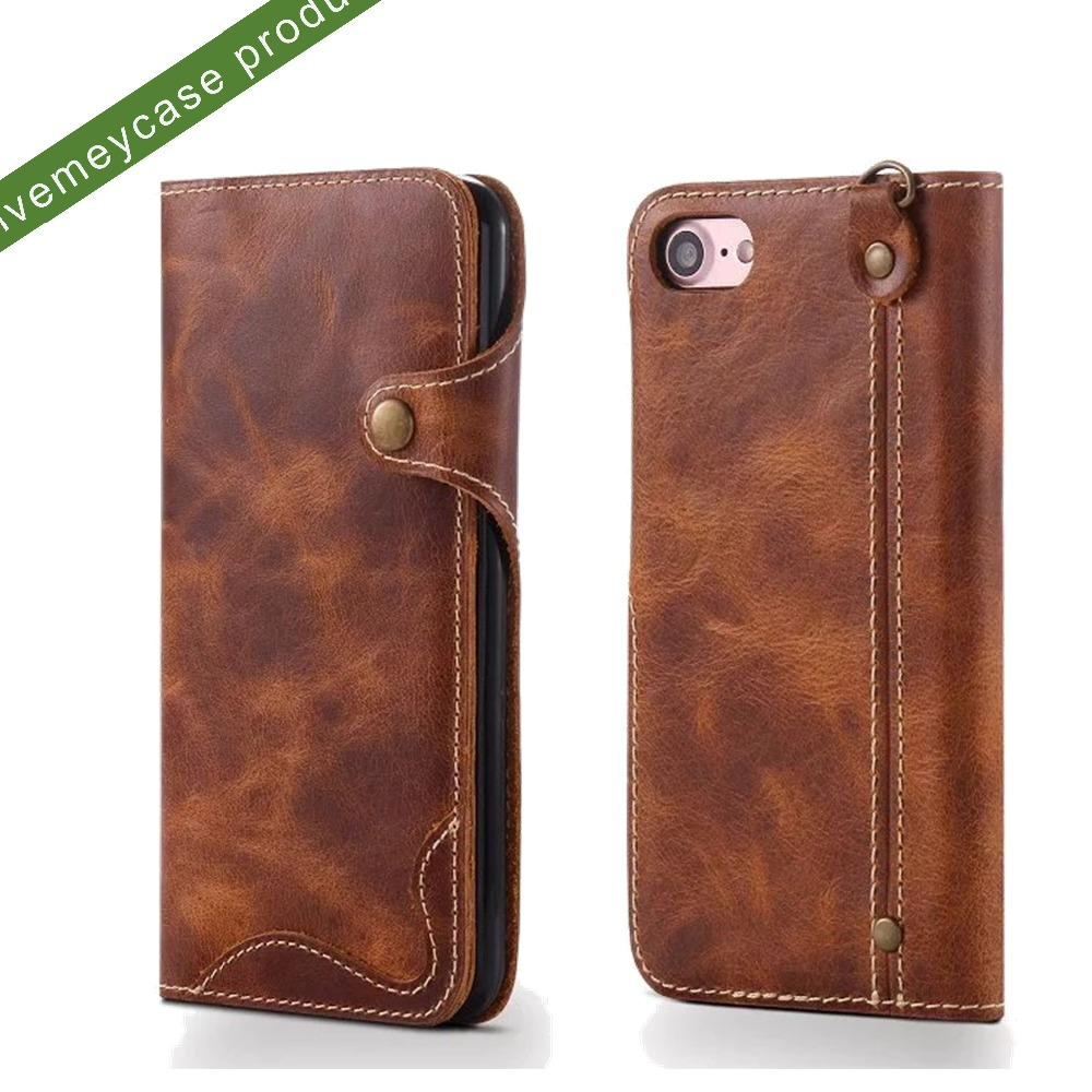 3 credit card holder wallet cow leather phone case for iphone 6/6plus/7/7plus,for iphone 7 leather wallet case