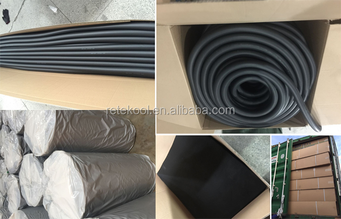 flexible foam pipe thermal insulation pipe or Air conditioning pipe insulation tube