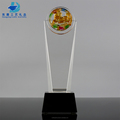 Yiwu Trophy Manufacturers Wholesale Blank Glass Trophy Plaques for Name Engraving